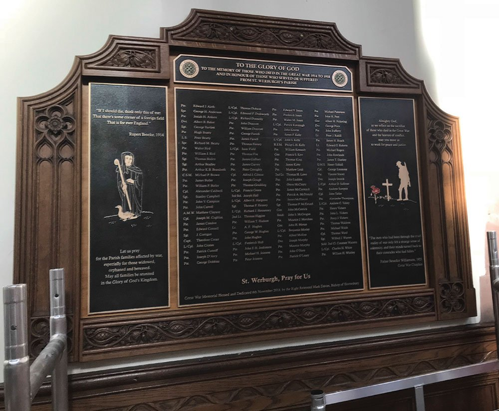 Memorial bronze plaques